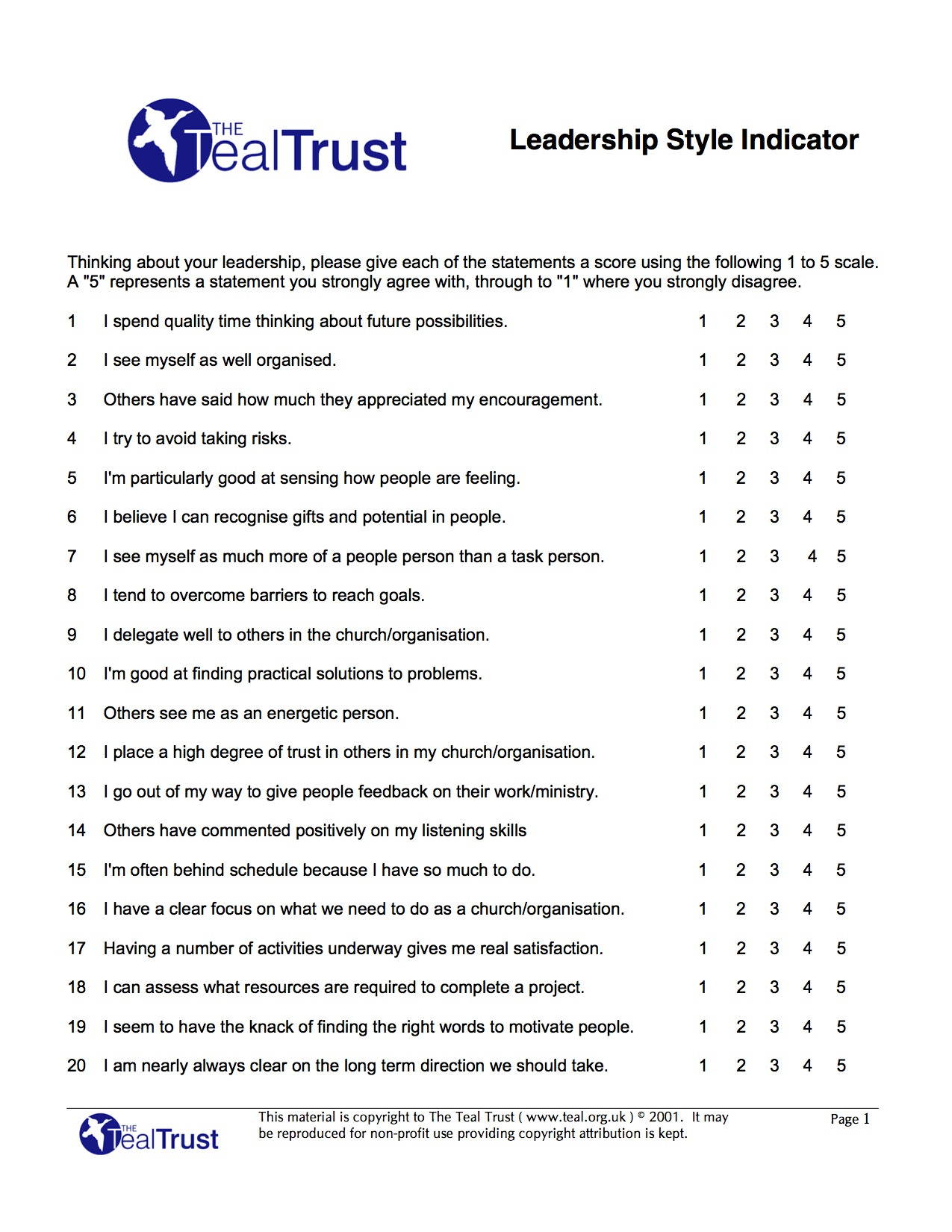 Massif image with leadership quiz printable